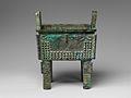 商 青銅方鼎-Ritual Rectangular Cauldron (Fangding) MET DP155119.jpg