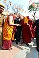大會主席 堪祖蔣康仁波切歡迎大寶法王噶瑪巴 - The Chairman, Khentrul Gyang Khang Rinpoche welcomes HH 17th Karmapa (12483192364).jpg