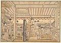新吉原仮宅両国之図-Picture of the Temporary Lodgings of the New Yoshiwara Pleasure Quarter at Ryōgoku (Shin Yoshiwara Karitaku Ryogoku no zu) MET DP135642.jpg