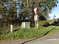 -2018-10-18 Fire hydrant and road sign, Bacton road (B1159), Paston, Norfolk.JPG
