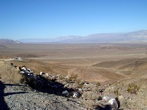 "Panamint Valley - Panamint Valley, looking north from ""Slate Range Crossing"", a pass that connects Panamint and Searles valleys."