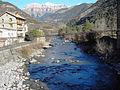 018.Río Ara en ro suyo trangue á Broto.JPG