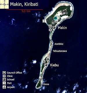 Makin (islands) - Image: 01 Map of Makin, Kiribati