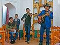 020 Casa museu de Faizul·là Khodjàiev (Bukharà), grup de música.jpg