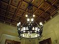 031 Ajuntament de Terrassa, llum del sostre de la sala de l'alcaldia.JPG
