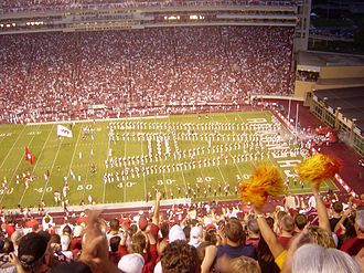 Donald W. Reynolds Razorback Stadium - Image: 09 02 06 Razorbacks Enter RSS