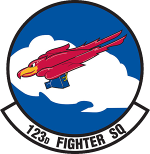 123d Fighter Squadron - Emblem of the 123d Fighter Squadron