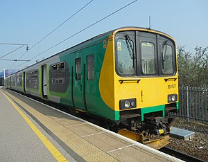 British Rail Class 150 - London Midland Class 150 No. 150107 at Bedford