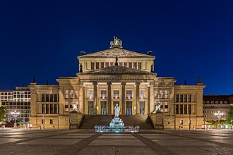 Konzerthaus Berlin - Konzerthaus Berlin at night (2015).