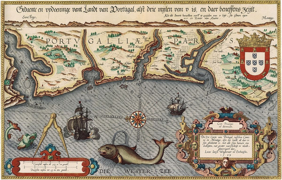 Lucas Janszoon Waghenaer Wikipedia - Portugal map wikipedia