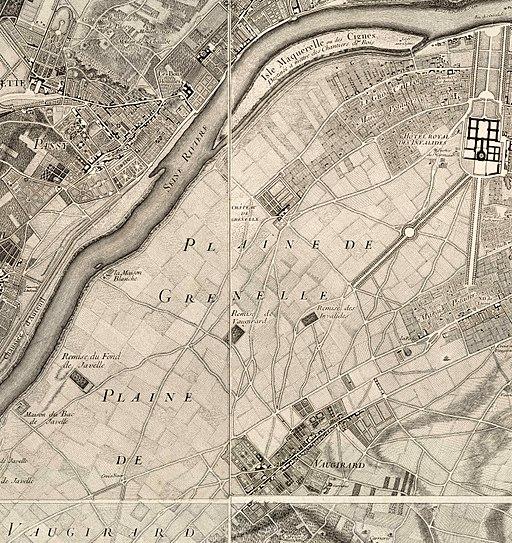 1730-1739 Roussel - Paris ses fauxbourgs et ses environs - détail Grenelle