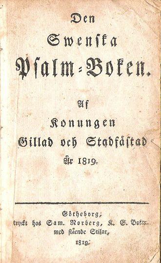 1819 in Sweden - 1819 års psalmbok, titelsida