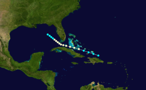 1861 Atlantic hurricane season - Image: 1861 Atlantic hurricane 2 track