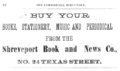 1875 Book and News Co advert Texas Street in Shreveport Louisiana.png