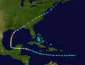 1889 Atlantic hurricane 6 track.png