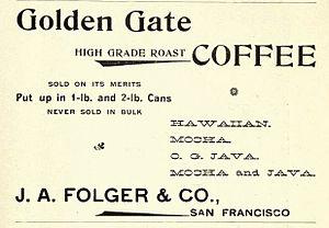 Folgers - Image: 1898Folgers Ad