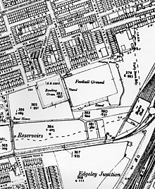 A 1910 map of Edgeley