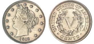 1913 Liberty Head nickel - The Olsen specimen 1913 liberty nickel