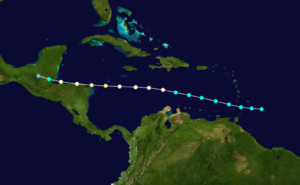 1918 Atlantic hurricane season - Image: 1918 Atlantic hurricane 2 track
