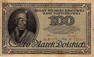 Polish marka - 100 marks of 1919