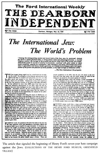 The International Jew - The International Jew, The World's Problem - 1920 articles in the Dearborn Independent