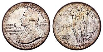 Hawaii Sesquicentennial half dollar - Image: 1928 50C Hawaiian