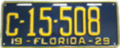 1929 Florida License Plate.png