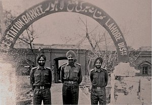Indo-Pakistani War of 1965 - Indian Army's officers of 4 Sikh Regiment had captured a Police Station in Lahore, Pakistan