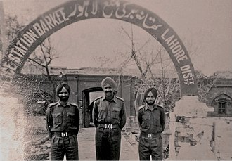 Indian Army - The Indian Army captured a Police Station in Lahore, Pakistan after winning the Battle of Burki in the 1965 War. It was left by them after the signing of the Tashkent Declaration.