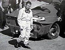 Nino Vaccarella walks away from his damaged Ferrari 330 P3 during the 1967 Targa Florio