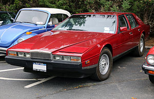 Aston Martin Lagonda - The Series 2 model has pop-up headlights
