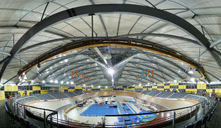 Velodrome arena for track cycling