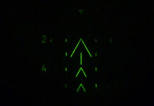Night vision device - A 1PN51-2 night vision reticle with markings for range estimation