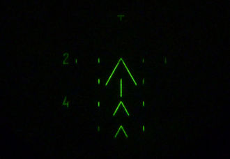 Night-vision device - A 1PN51-2 night-vision reticle with markings for range estimation
