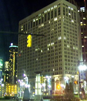 First National Building - Image: 1stnational Bldg Detroitnightview