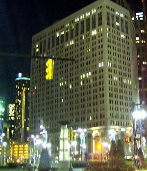 First National Building - Image: 1stnational Bldg Detroitnightview
