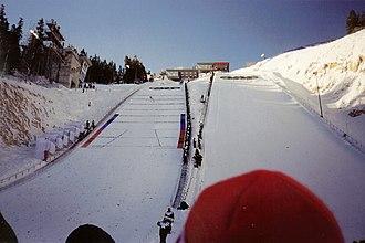 Ski jumping at the 2002 Winter Olympics - Ski jump at the Utah Olympic Park in Park City.