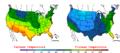 2007-10-27 Color Max-min Temperature Map NOAA.png