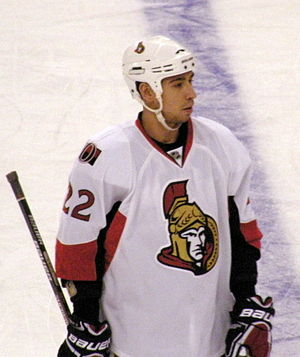 Chris Kelly (ice hockey) - Kelly in 2009 as a member of the Ottawa Senators.