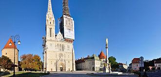 Zagreb Cathedral - Image: 2011 08 18 18 31 41 Croatia Zagreb Cathedral Square 6vl