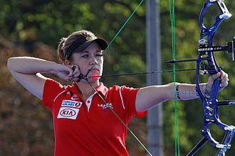 Erika Jones - Erika Jones during the FITA Archery World Cup 2013