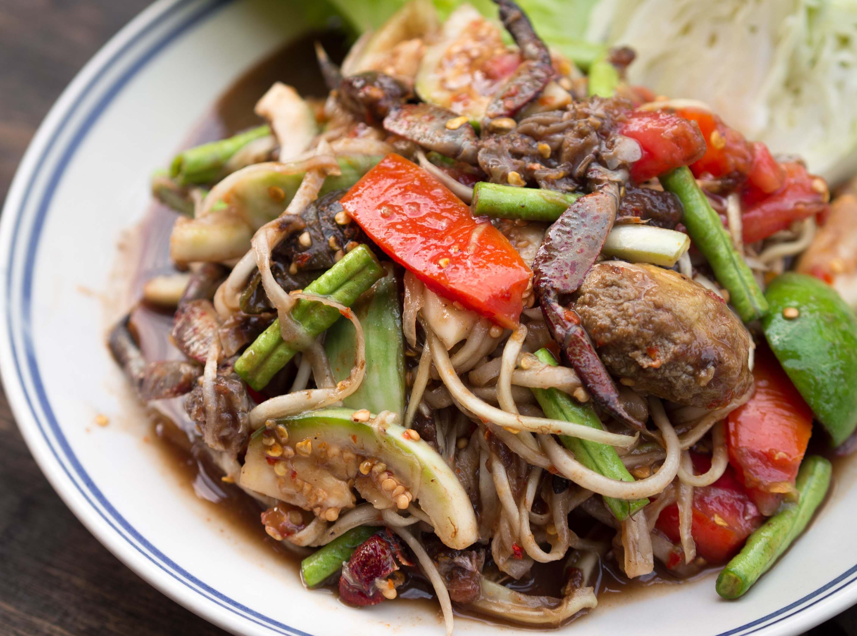 Green papaya salad - The complete information and online sale with ...