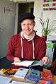 2014-04-17 Sven-Michael Salzer, Geschäftsführer Lausch Kultur Hannover e.V. (Internationale A-cappella-Woche Hannover) beim Versand im Freundeskreis Hannover.jpg