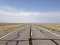 2014-07-17 09 57 36 View west along U.S. Route 6 about 118 miles east of the Esmeralda County Line in Currant, Nevada.JPG