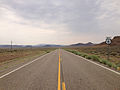 2014-07-17 10 36 11 View west along U.S. Route 6 about 87.9 miles east of the Esmeralda County Line at Blackrock Summit, Nevada.JPG
