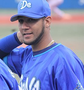20140713 Yulieski Gourriel Castillo , infielder of the Yokohama DeNA BayStars, at Meiji Jingu Stadium.JPG