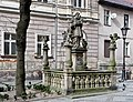 2014 Kłodzko, posąg św. Jana Nepomucena, 03.JPG