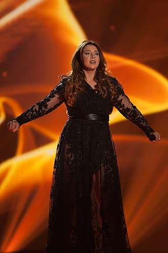 Malta in the Eurovision Song Contest 2015 - Amber at a dress rehearsal for the second semi-final