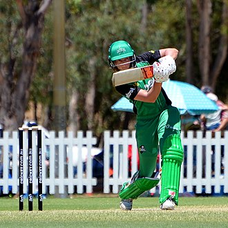 Meg Lanning - Lanning batting for Melbourne Stars during WBBL02.