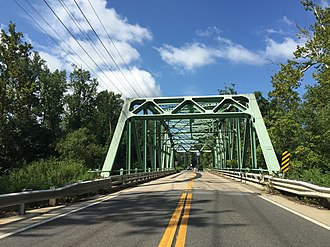 Maryland Route 214 - MD 214 westbound across the Patuxent River